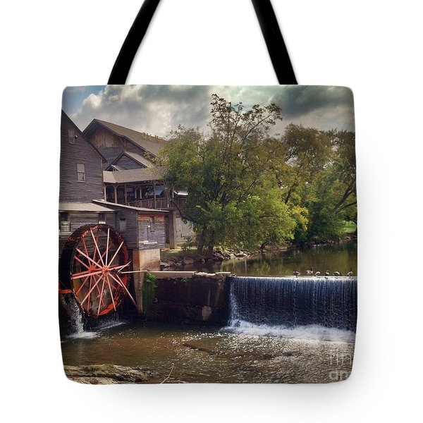 The Old Mill Tote Bag by Janice Spivey