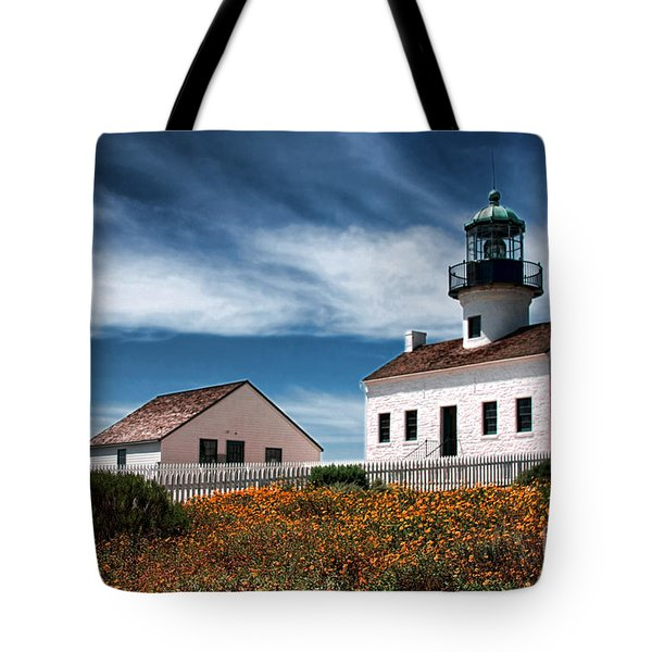 The Old Point Loma Lighthouse By Diana Sainz Tote Bag