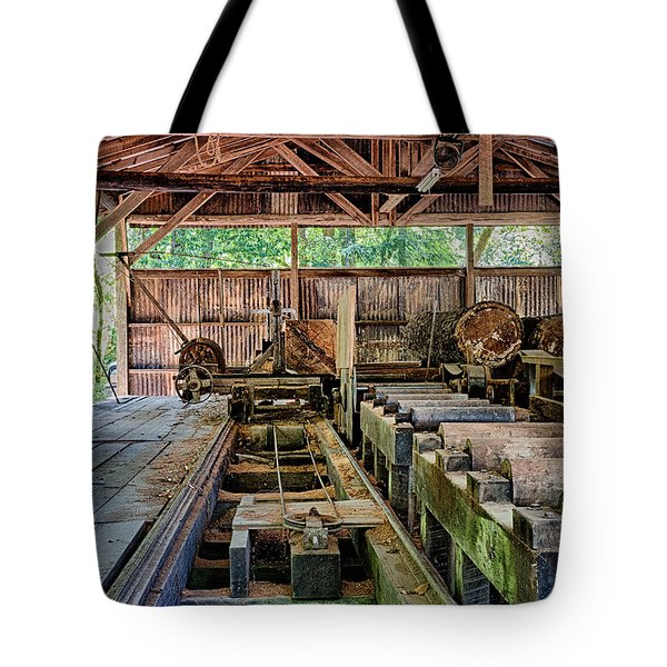 The Old Sawmill Tote Bag by Betty Depee