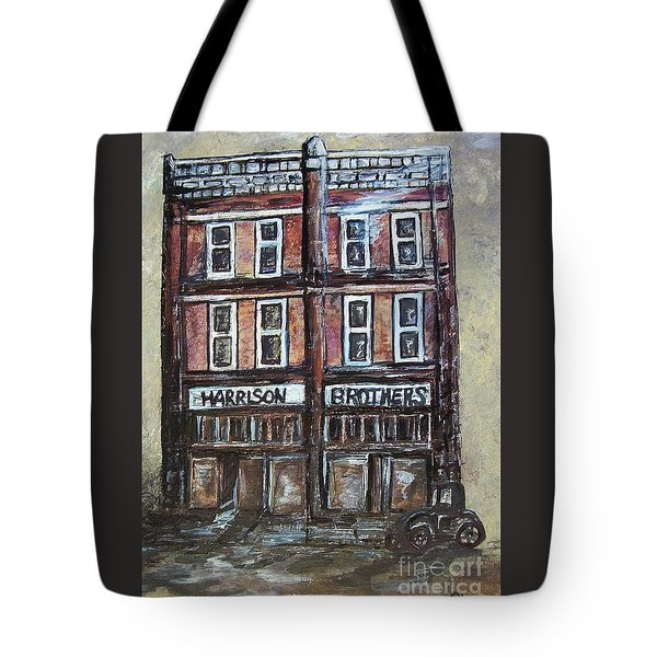 Tote Bag featuring the painting The Old Store by Eloise Schneider