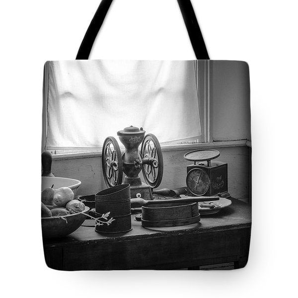 The Old Table By The Window - Wonderful Memories Of The Past - 19th Century Table And Window Tote Bag by Gary Heller