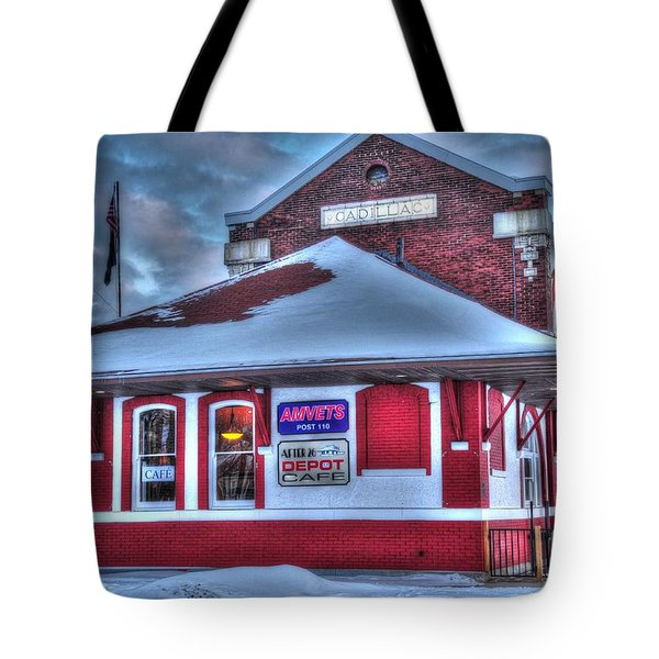 The Old Train Station Tote Bag by Terri Gostola