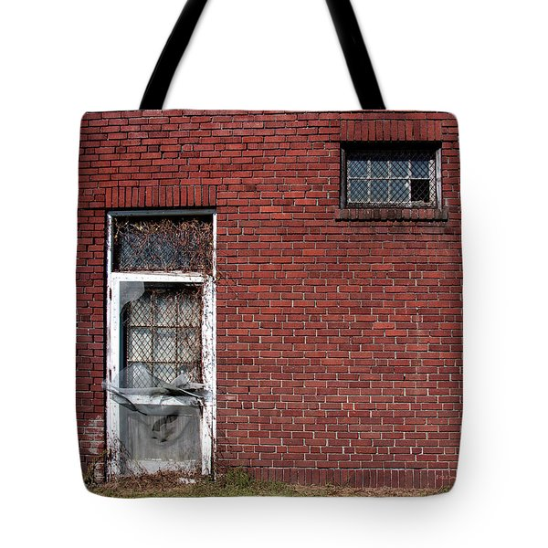 Tote Bag featuring the photograph The Old Trap Brick Store by Rebecca Davis