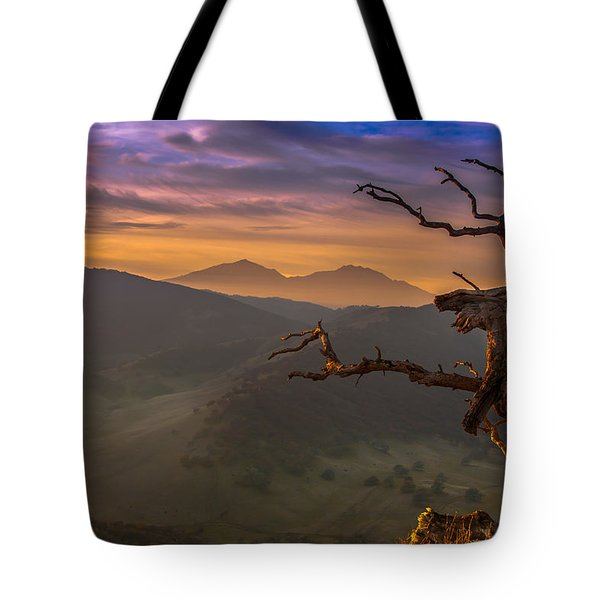 The Old Tree And Diablo Tote Bag by Marc Crumpler