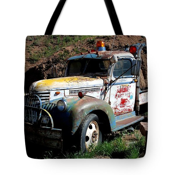 Tote Bag featuring the photograph The Old Truck by Dany Lison