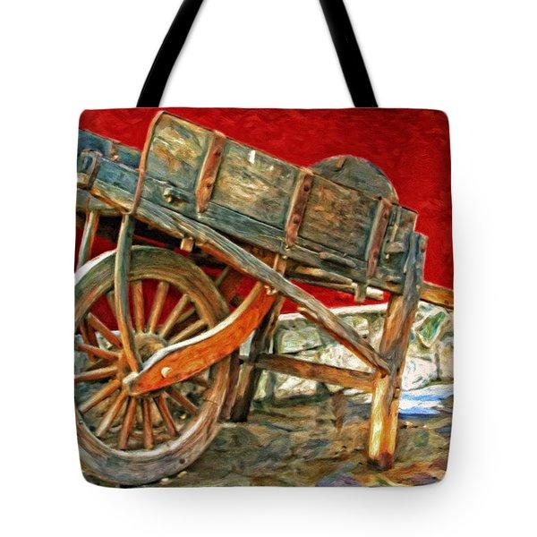 The Old Wheelbarrow Tote Bag by Michael Pickett