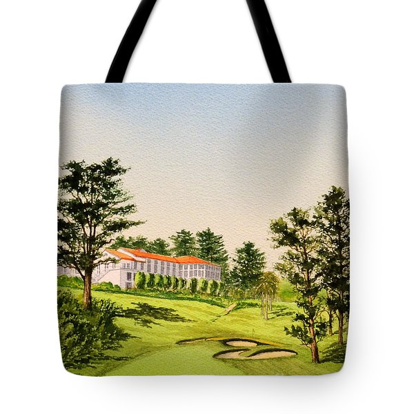 Tote Bag featuring the painting The Olympic Golf Club - 18th Hole by Bill Holkham