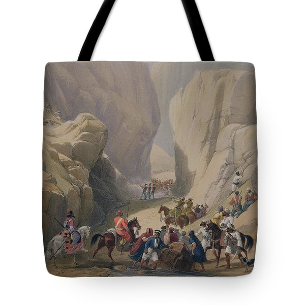 The Opening Into The Narrow Pass Above Tote Bag
