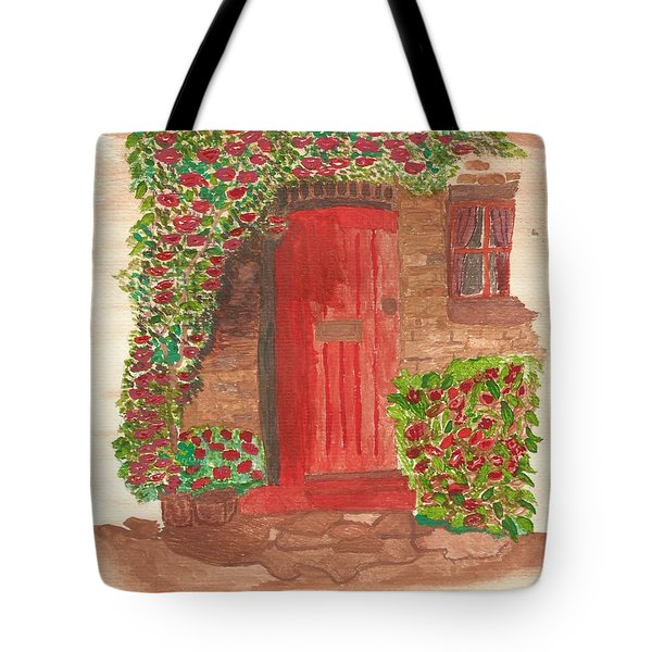 The Orange Door Tote Bag by Tracey Williams