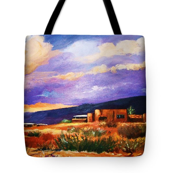 The Orange Glow Of Sunset Tote Bag