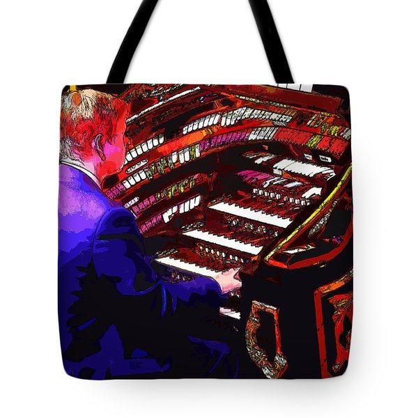 The Organ Player Tote Bag