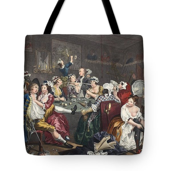 The Orgy, Plate IIi From A Rakes Tote Bag by William Hogarth