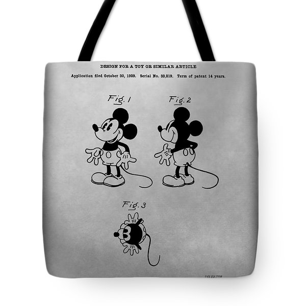 The Original Mickey Mouse Patent Design Tote Bag