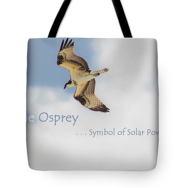 Tote Bag featuring the photograph The Osprey by DigiArt Diaries by Vicky B Fuller