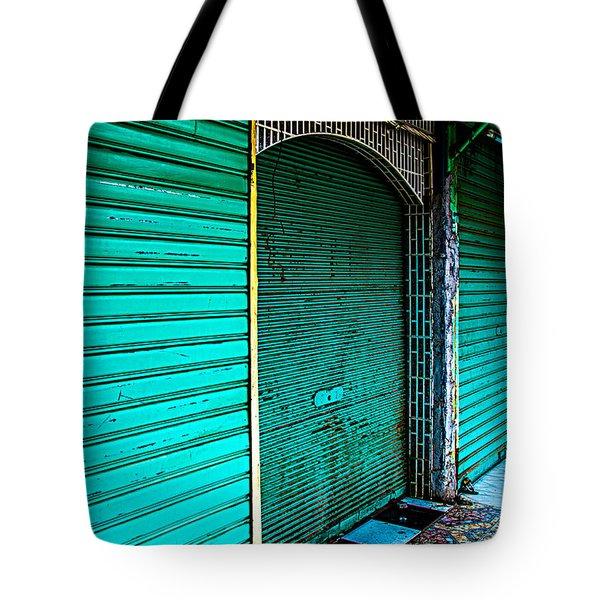 Marrakech Aqua Tote Bag