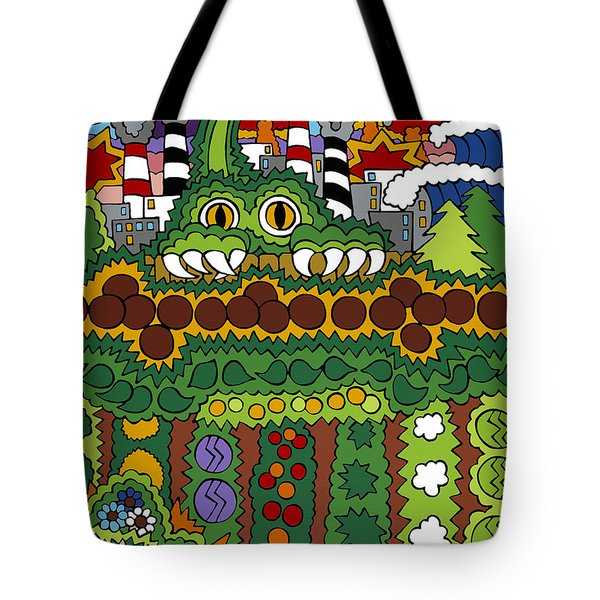 The Other Side Of The Garden  Tote Bag by Rojax Art