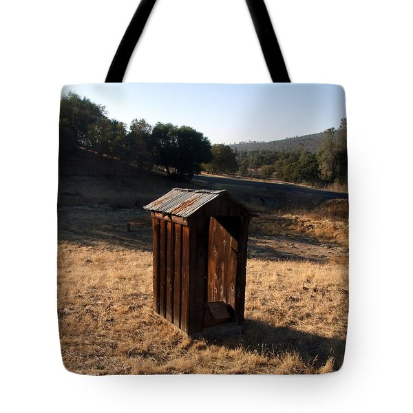 Tote Bag featuring the photograph The Outhouse by Richard Reeve