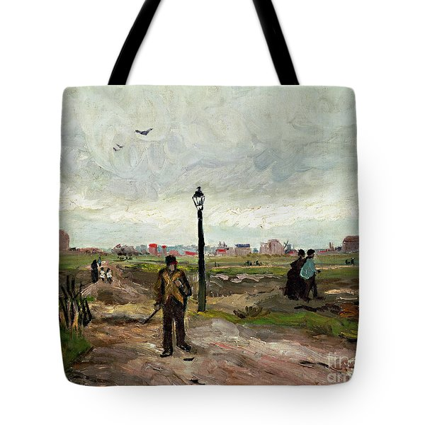 The Outskirts Of Paris Tote Bag by Vincent van Gogh