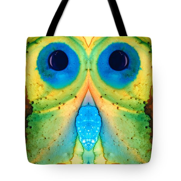 The Owl - Abstract Bird Art By Sharon Cummings Tote Bag by Sharon Cummings