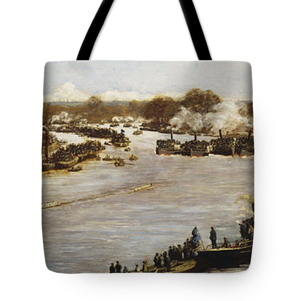 The Oxford And Cambridge Boat Race Tote Bag by James Macbeth