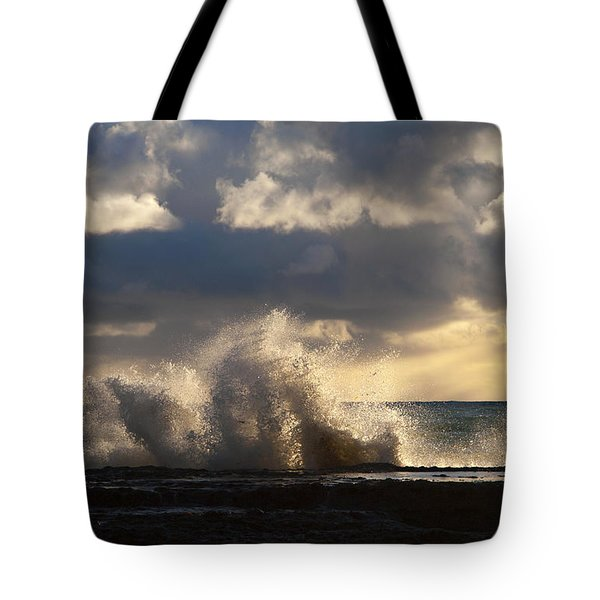 The Pacific Calms Down Tote Bag by Joe Schofield