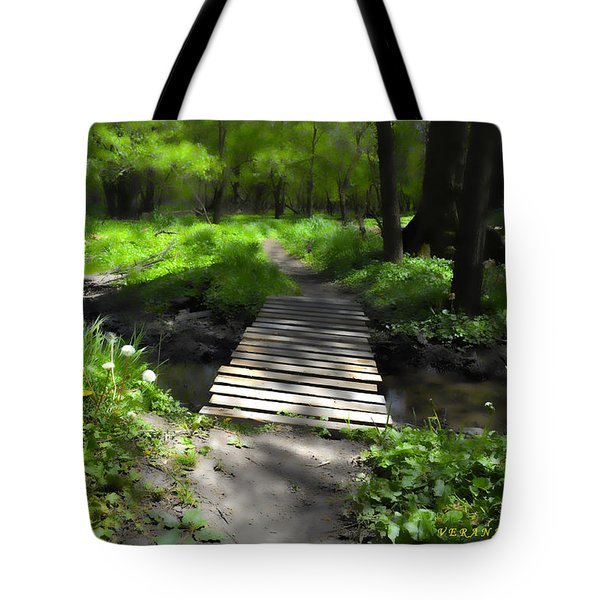 The Painted Forest From The Series The Imprint Of Man In Nature Tote Bag