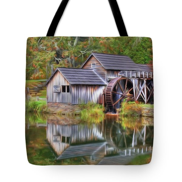 The Painted Mill Tote Bag
