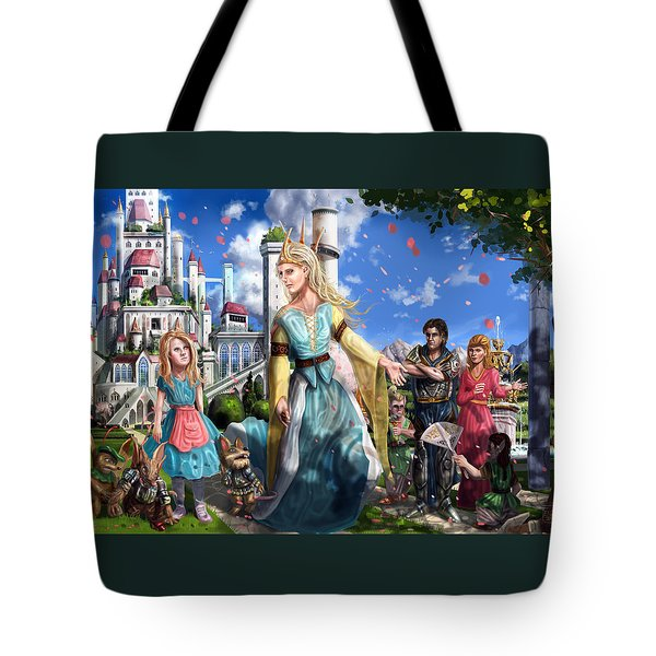 Tote Bag featuring the painting The Palace Garden  by Reynold Jay