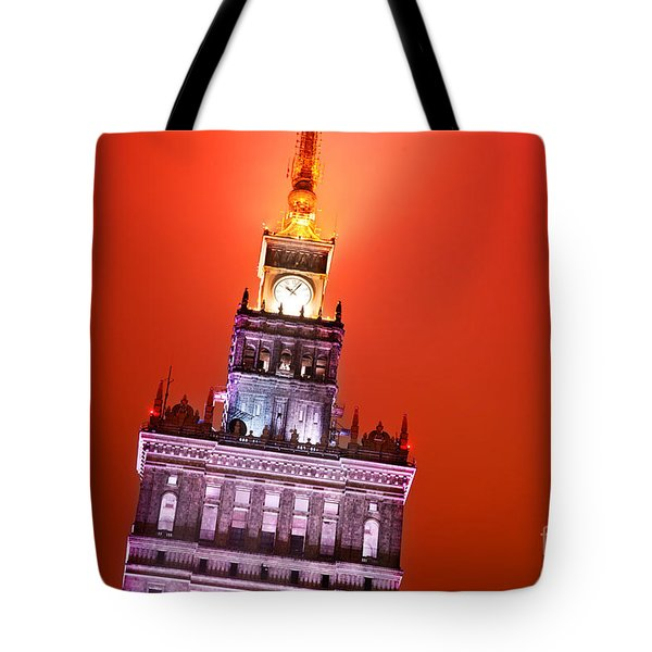 The Palace Of Culture And Science Warsaw Poland  Tote Bag by Michal Bednarek