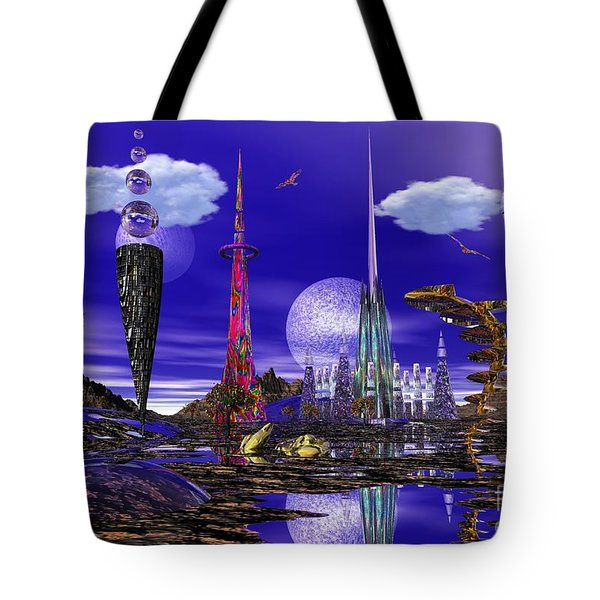 The Palace Of Prax Tote Bag by Mark Blauhoefer