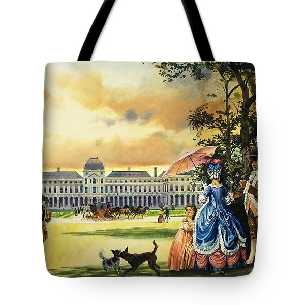 The Palace Of The Tuileries Tote Bag by Andrew Howat