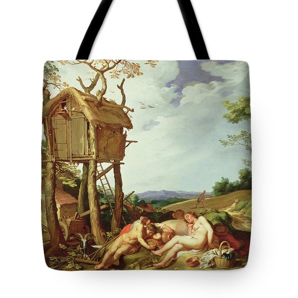 The Parable Of The Wheat And The Tares Tote Bag by Abraham Bloemaert