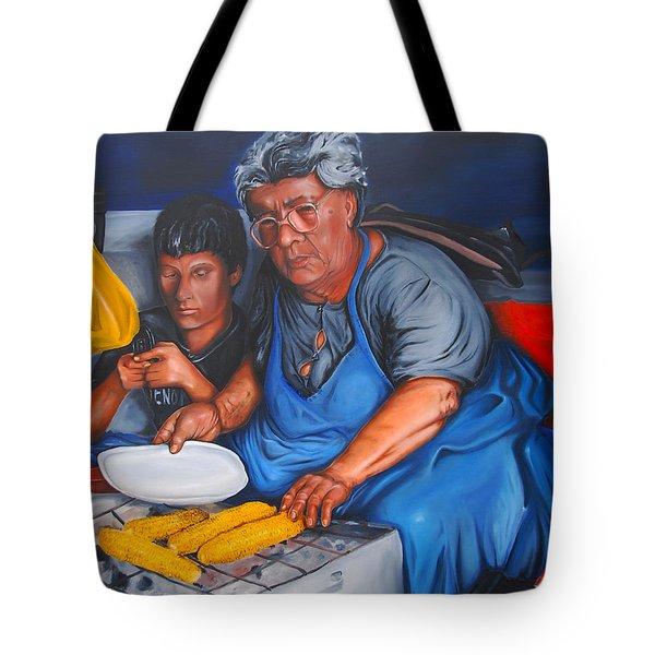 The Parga Corn Seller Tote Bag