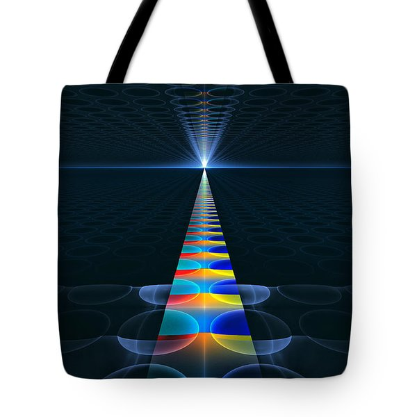 Tote Bag featuring the digital art The Path Ahead by GJ Blackman