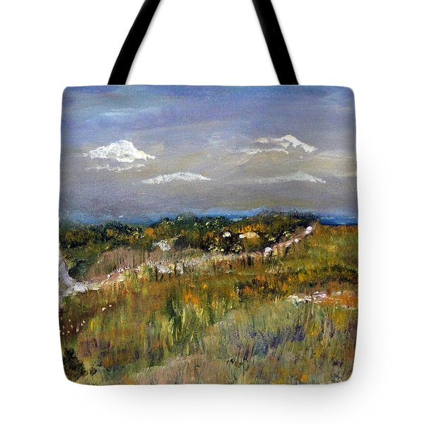 Tote Bag featuring the painting The Path Not Taken by Michael Helfen