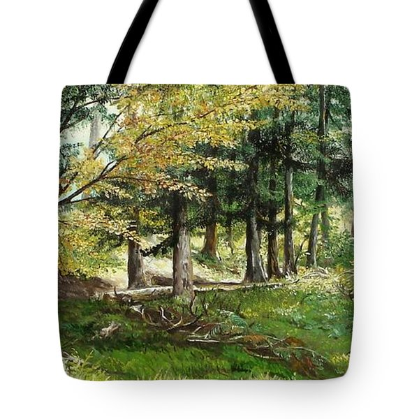 Tote Bag featuring the painting The Path by Sorin Apostolescu
