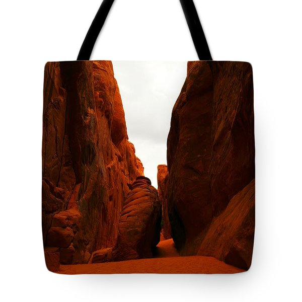 The Path To San Dune Falls Tote Bag by Jeff Swan