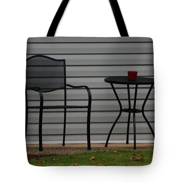 The Patio In Living Color Tote Bag by Rob Hans