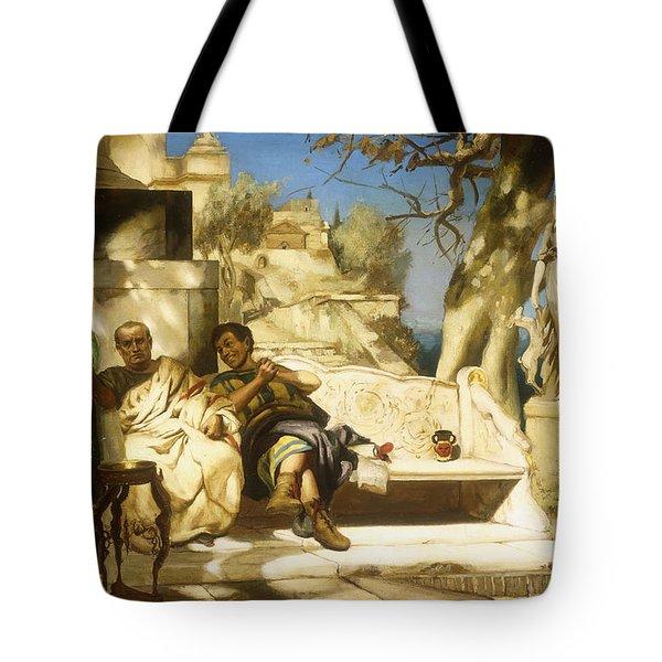 The Patrician's Siesta Tote Bag by Hendrik Siemiradzki