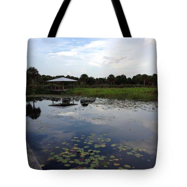 The Pavilion  Tote Bag by K Simmons Luna