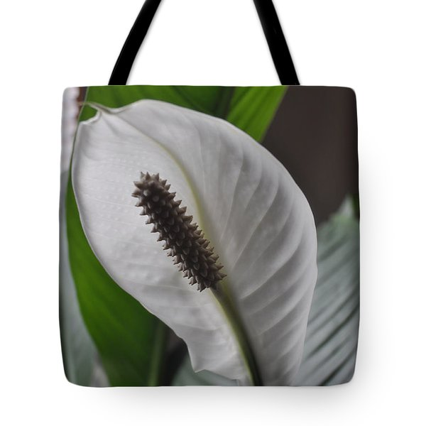 Tote Bag featuring the photograph The Peace Lily by Verana Stark