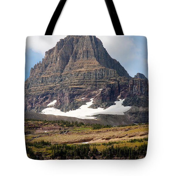 Tote Bag featuring the photograph The Peak At Logans Pass by John M Bailey