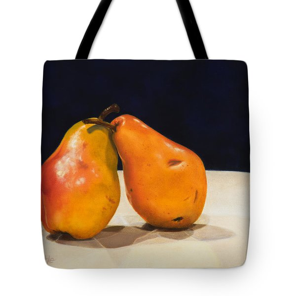 Tote Bag featuring the painting The Pearfect Pair by Dee Dee  Whittle
