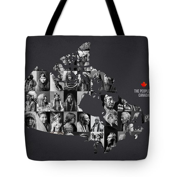 The People Of Canada Tote Bag by Aged Pixel