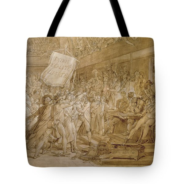 The People Of Paris Storm The Tuileries Tote Bag by Francois Pascal Simon Gerard