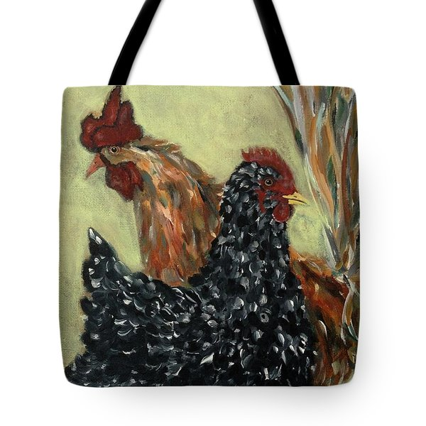 Tote Bag featuring the painting The Perfect Couple 2  by Reina Resto