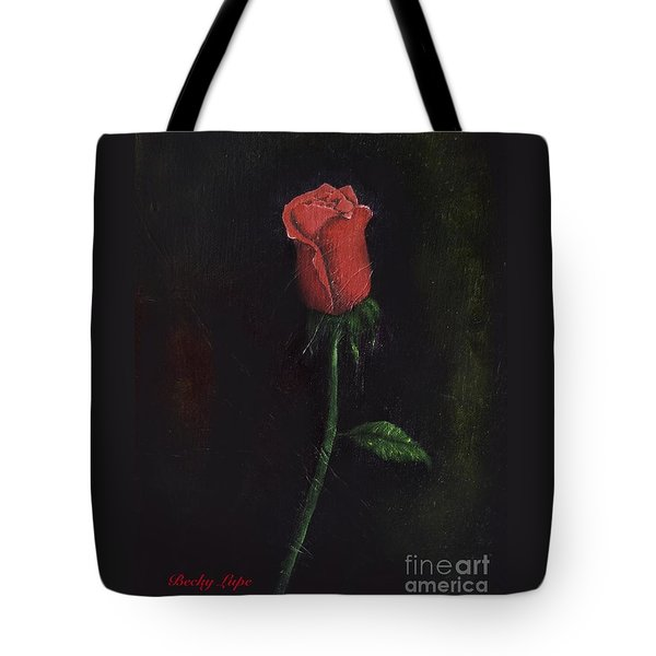 The Perfect Rose Tote Bag by Becky Lupe