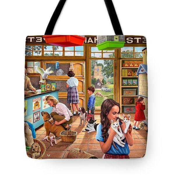 The Pet Shop Tote Bag by Steve Crisp