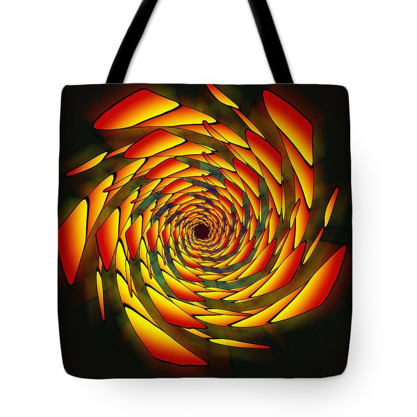 Tote Bag featuring the drawing The Phi Stargate by Derek Gedney