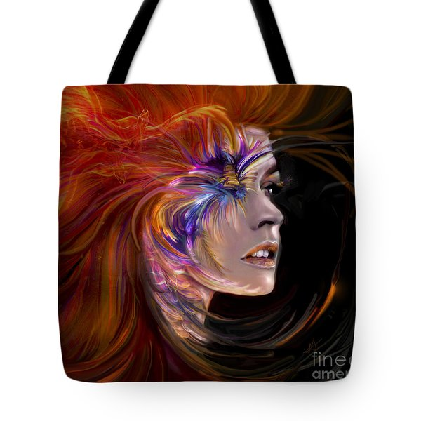 The Phoenix  Fire Flames And Rebirth Tote Bag